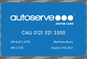 Autoserve Driver Card