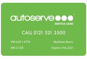 Autoserve's Service Card