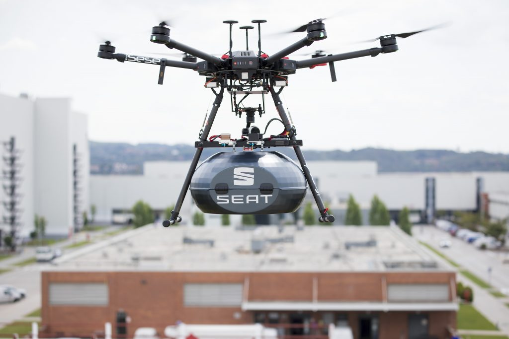 Drones Are Now Being Used To Deliver Car Parts And Components