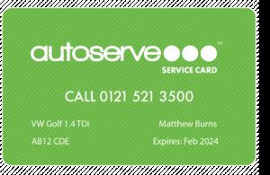 Autoserve Service Card - Driver Card